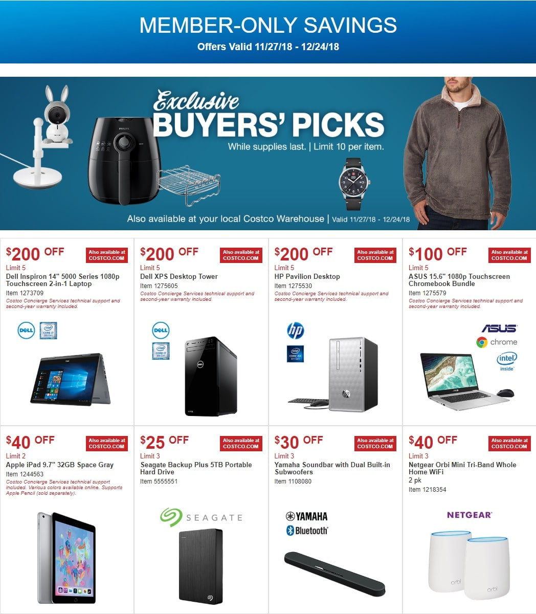 Costco Coupons Ad November 27 December 24 2018