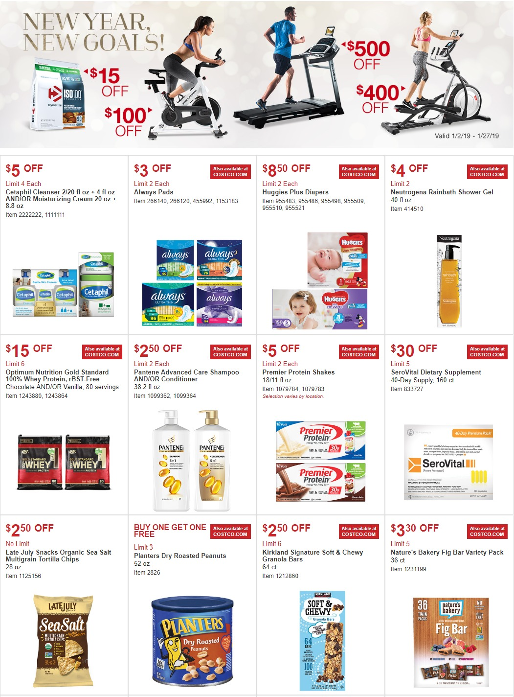 Costco Coupons Ad January 2 January 27 2019