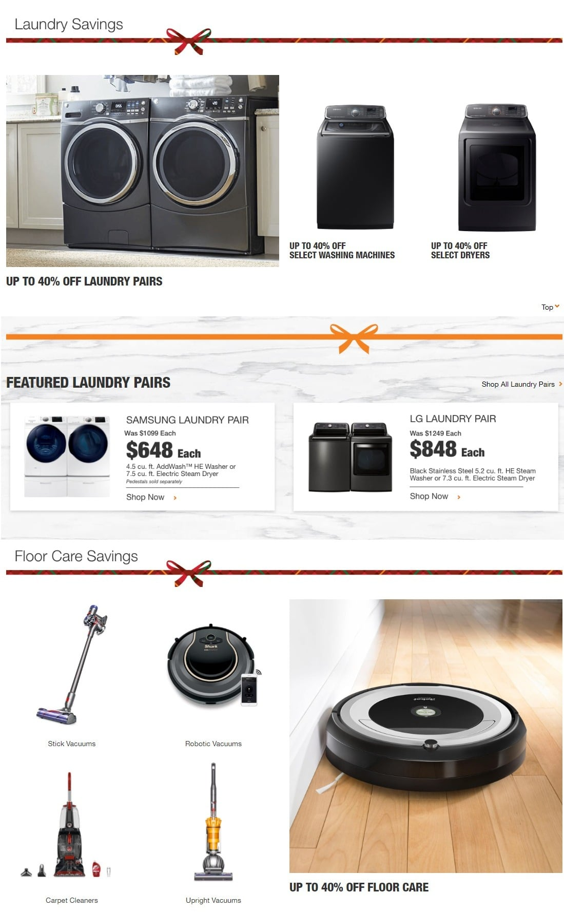 Home Depot Black Friday Appliance Savings Ad 2018