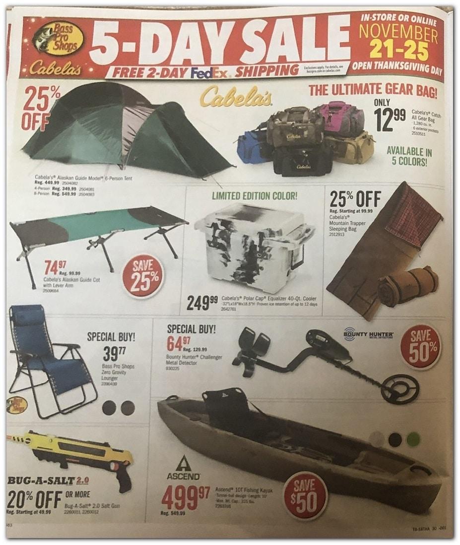 Bass Pro Shops Black Friday Ad 2019
