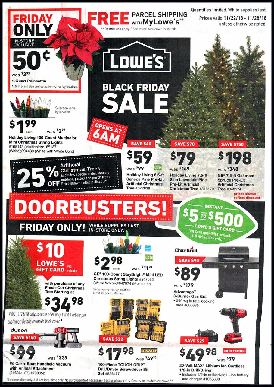 Lowes Fresh Christmas Trees.Lowe S Black Friday Ad Sale 2019