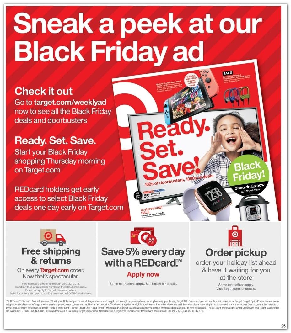 Target Pre Black Friday 2019 Sale Ad