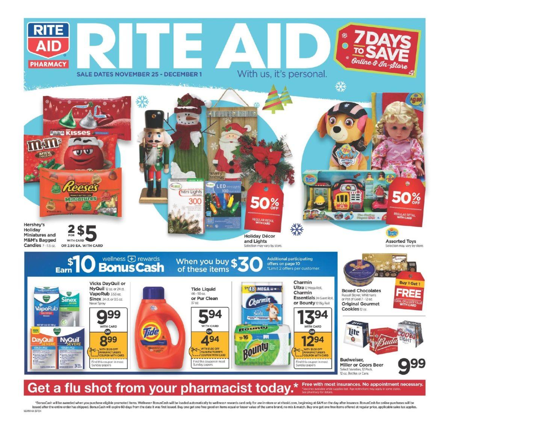 Rite Aid Weekly Circular November 25 – December 1, 2018