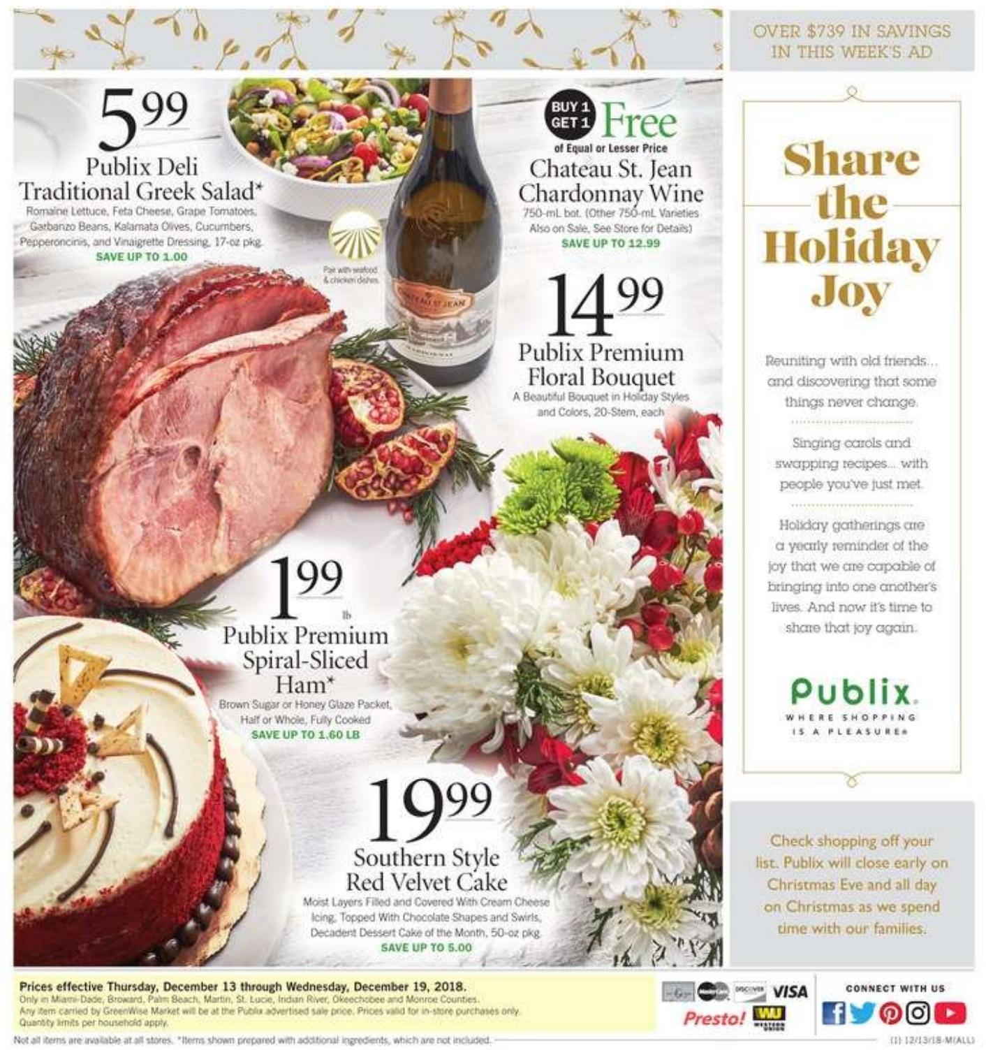 Publix Ad Specials December 13 - December 19, 2018