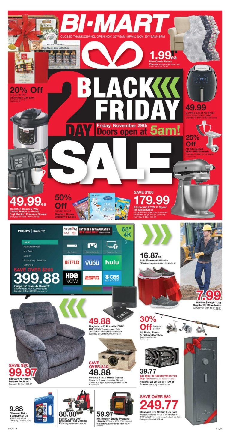 Bi Mart Black Friday Ad Sale 2020