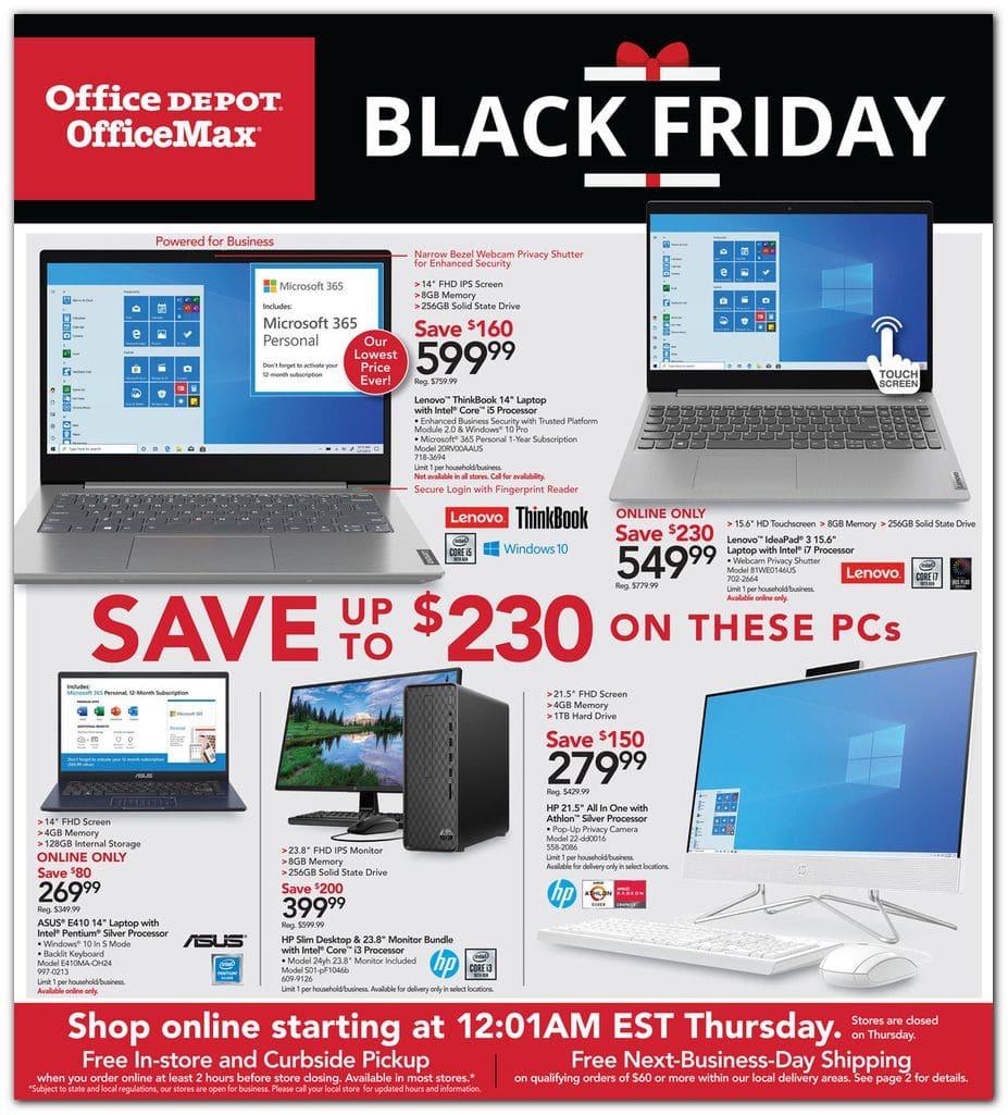 Office Depot Black Friday Ad Sale 2020