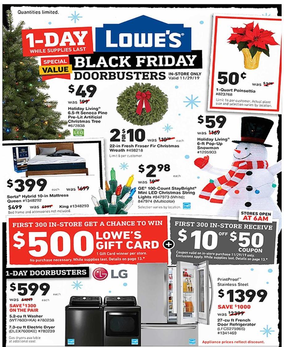 Lowe S Black Friday Ad Sale 2020