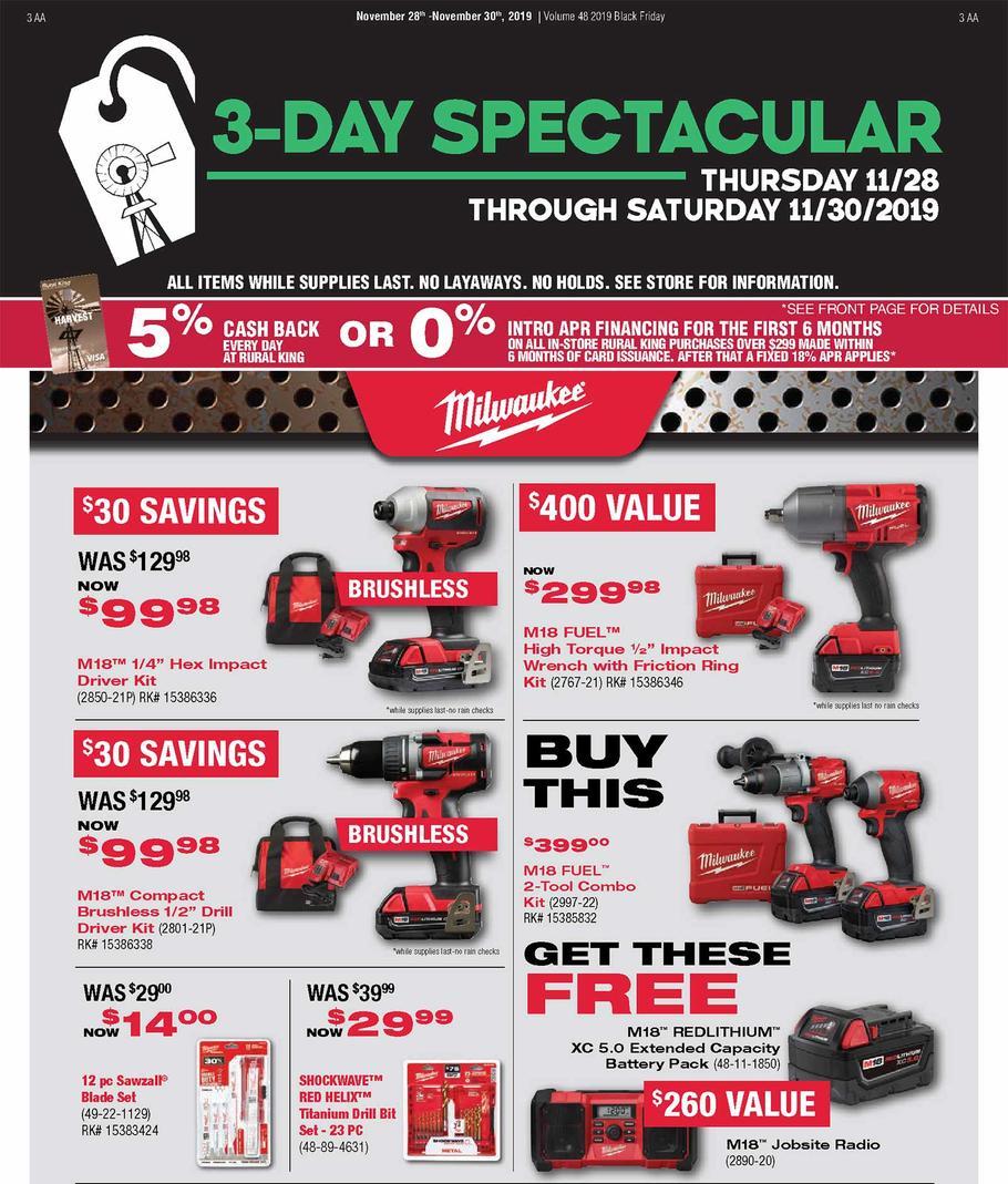 Milwaukee Tools Christmas 2020 Deals Milwaukee Black Friday 2020 Deals & Sales