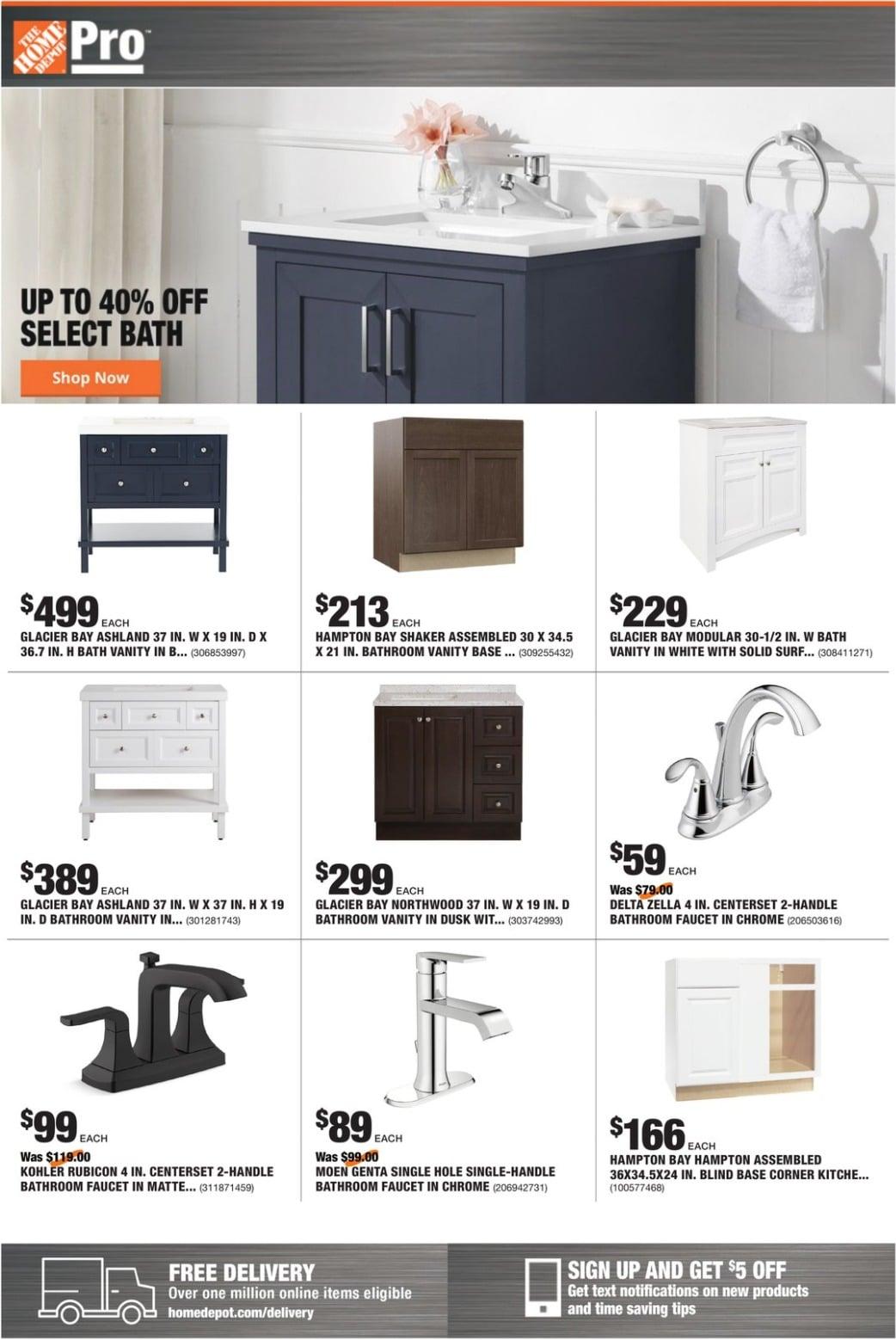 Home Depot Pro Ad January 11 - January 18, 2021