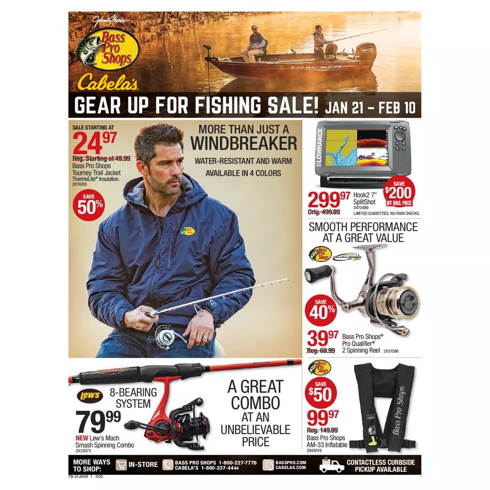 Bass Pro Shops Weekly Ad January 21 - February 10, 2021