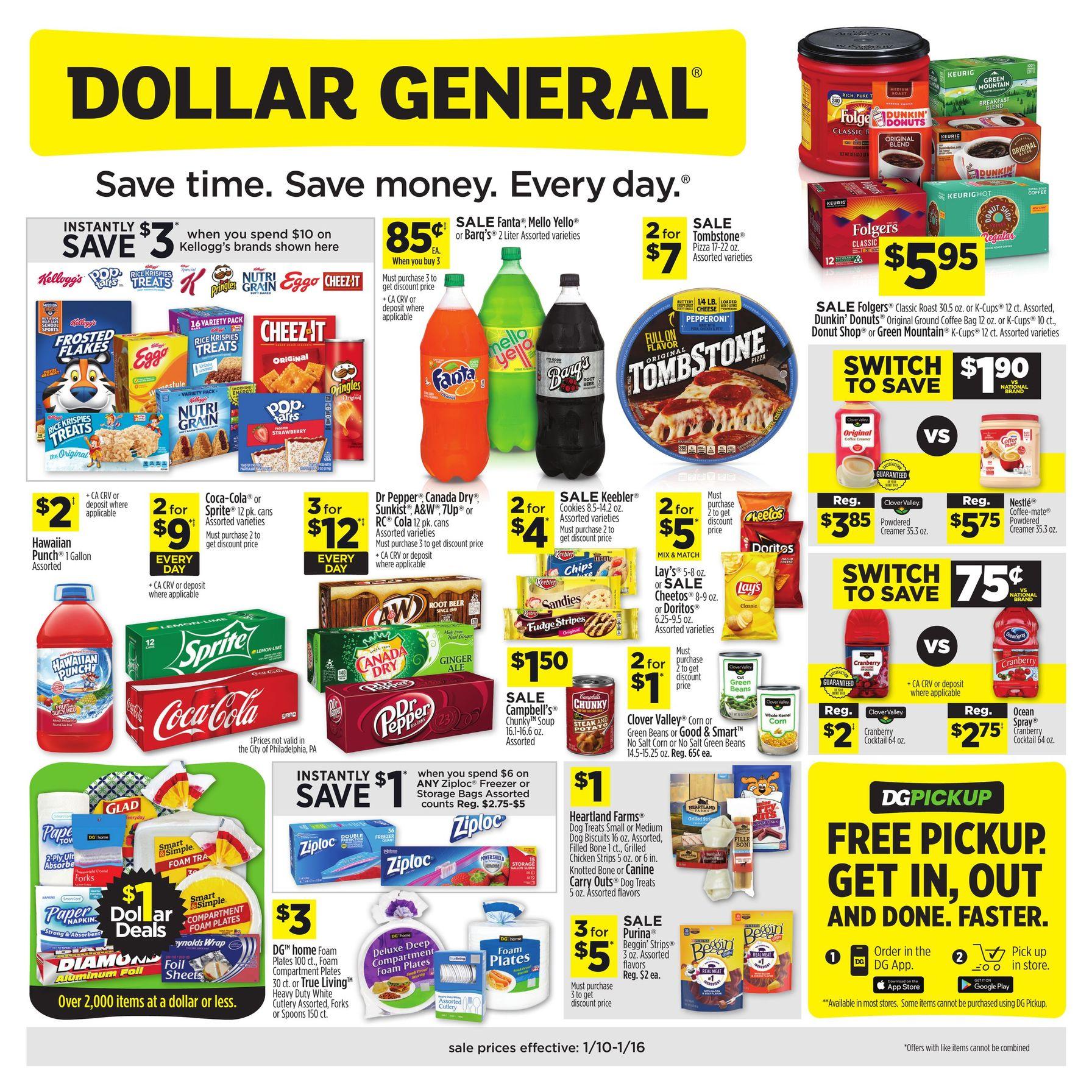 Dollar General Ad January 10 - January 16, 2021